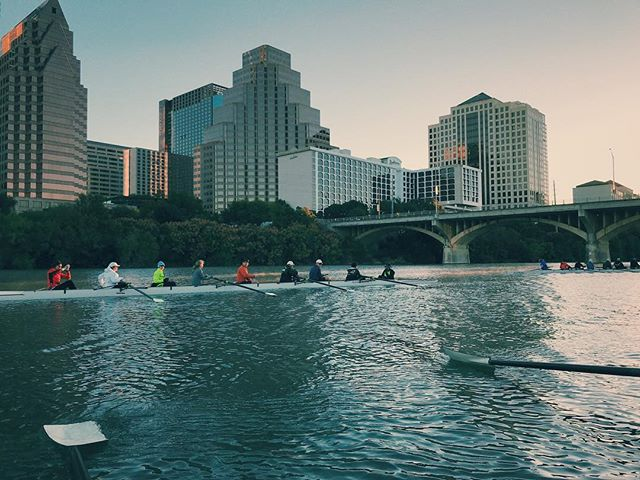 Throwback to when we took Colorado rowing to downtown Austin. Counting down the days until the next Pumpkinhead Regatta