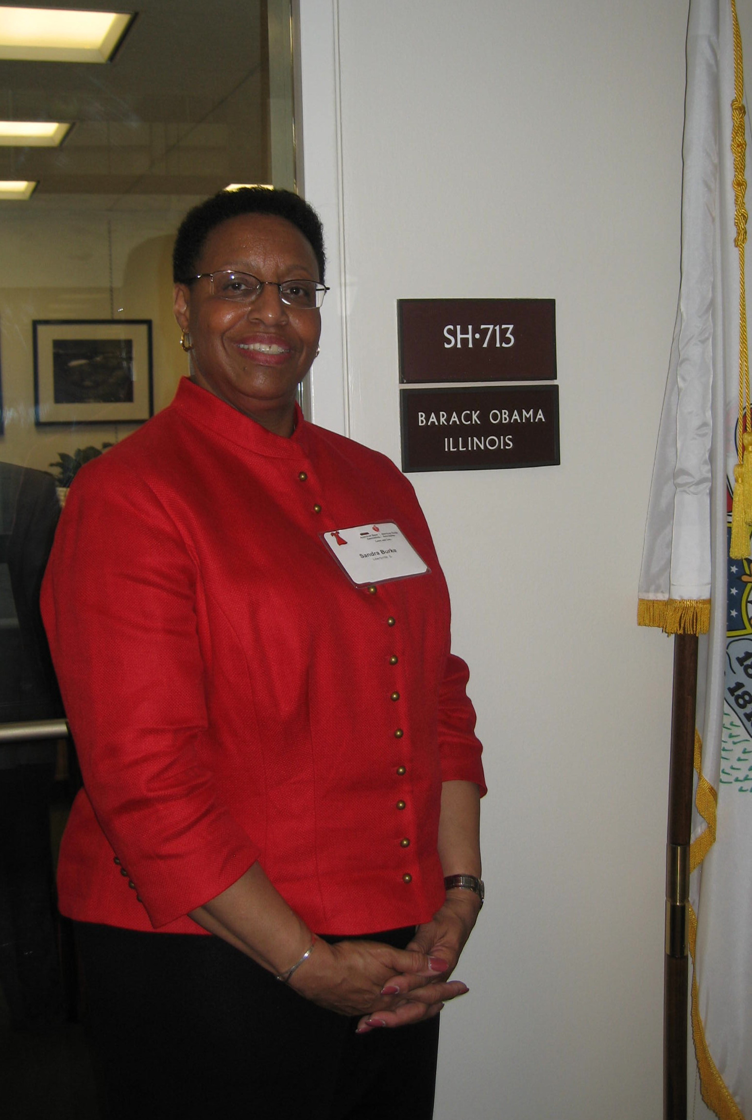 Visiting Barack Obama's Senate Office, 2006.jpg