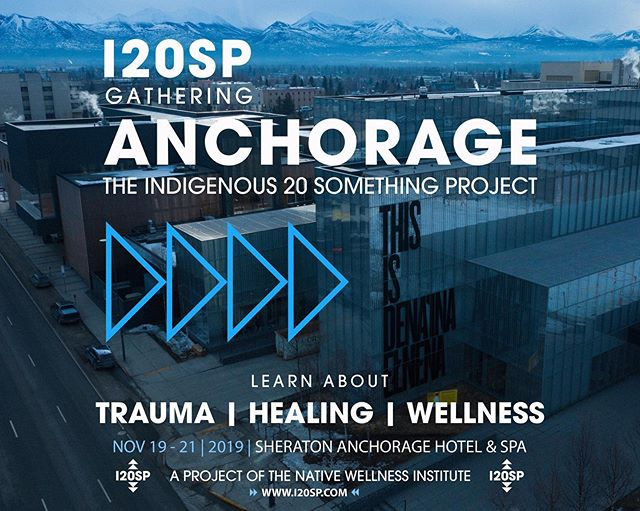Hey everyone! We are so excited to share that we have an upcoming training in the traditional territory of the Dena'ina in Anchorage, AK. • We will be covering many important topics like: • +Indigenous 20 Something Project +Historical and Intergenerational Trauma +Healing +Native Wellness +Being Trauma Informed +Healthy Relationships +Building Team and Trust +Movement Building +Changing Community Norms • We hope to see you there, visit nativewellness.com to register and for for info! #I20SP #NativeWellness #HealAGeneration #Denaina #Anchorage