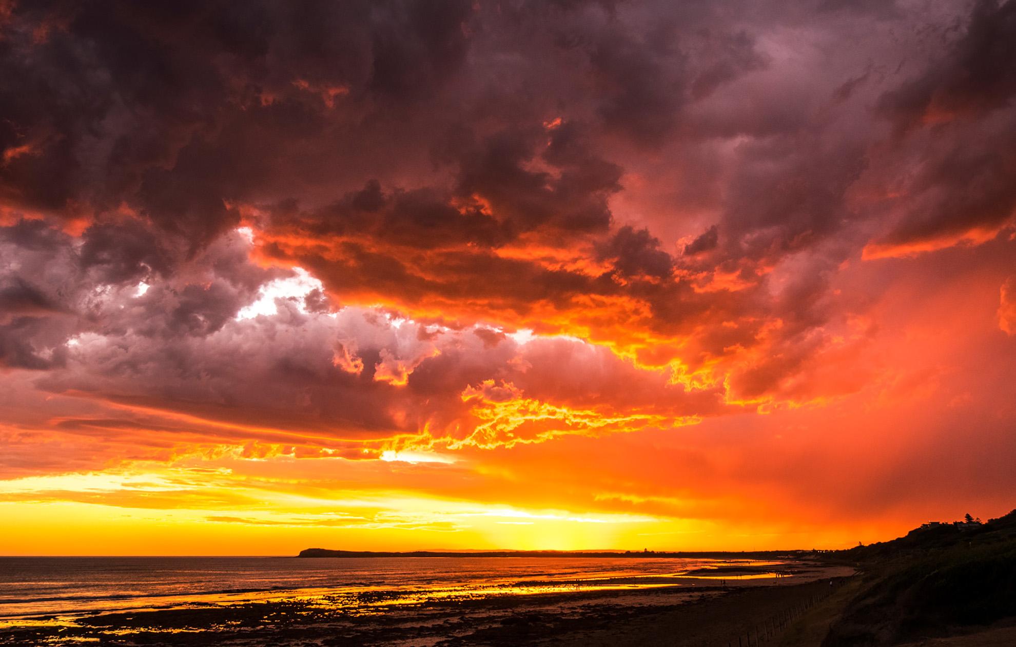 10W Sunset Clouds