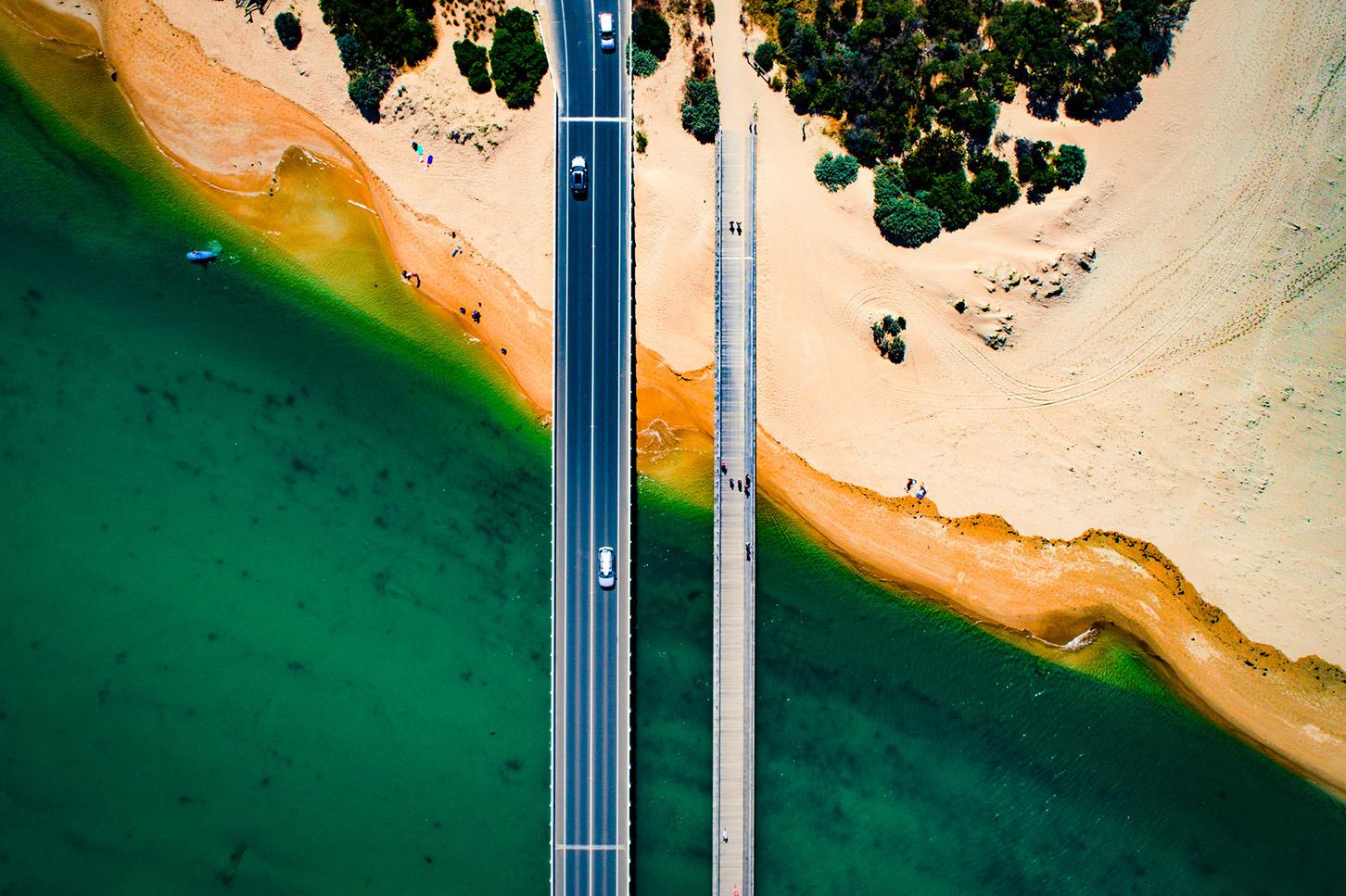 Summer Bridge Birds Eye