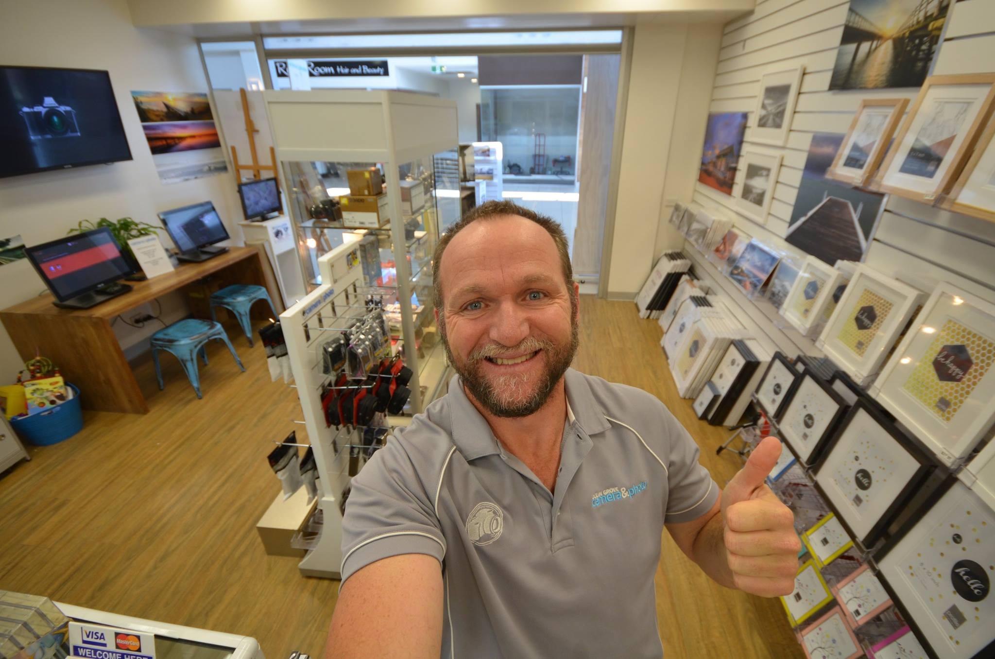 Store owner Brendan Waites.
