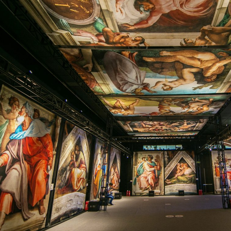 Tour of Michelangelo's Sistine Chapel Exhibition