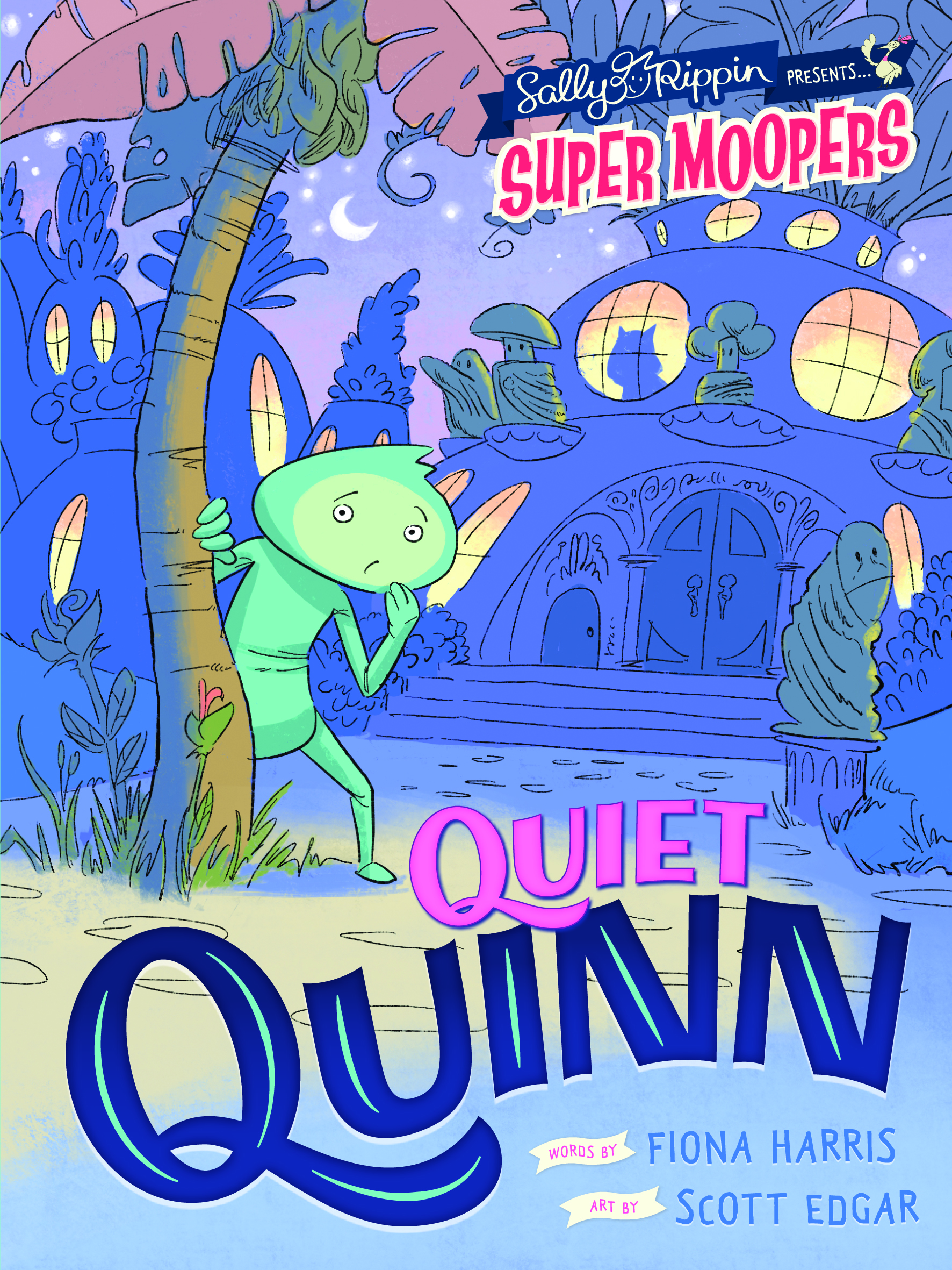 quiet quinn - Quinn just wants a little peace. It's not that he doesn't love busy Moopertown. It's just that he prefers his quiet life, and his work at Moopertown Museum. But Quinn is so quiet that he's sometimes overlooked by the other Moopers. And sometimes they forget he's even there! Poor Quinn. How does a quiet Mooper fit in a rowdy place like Moopertown?