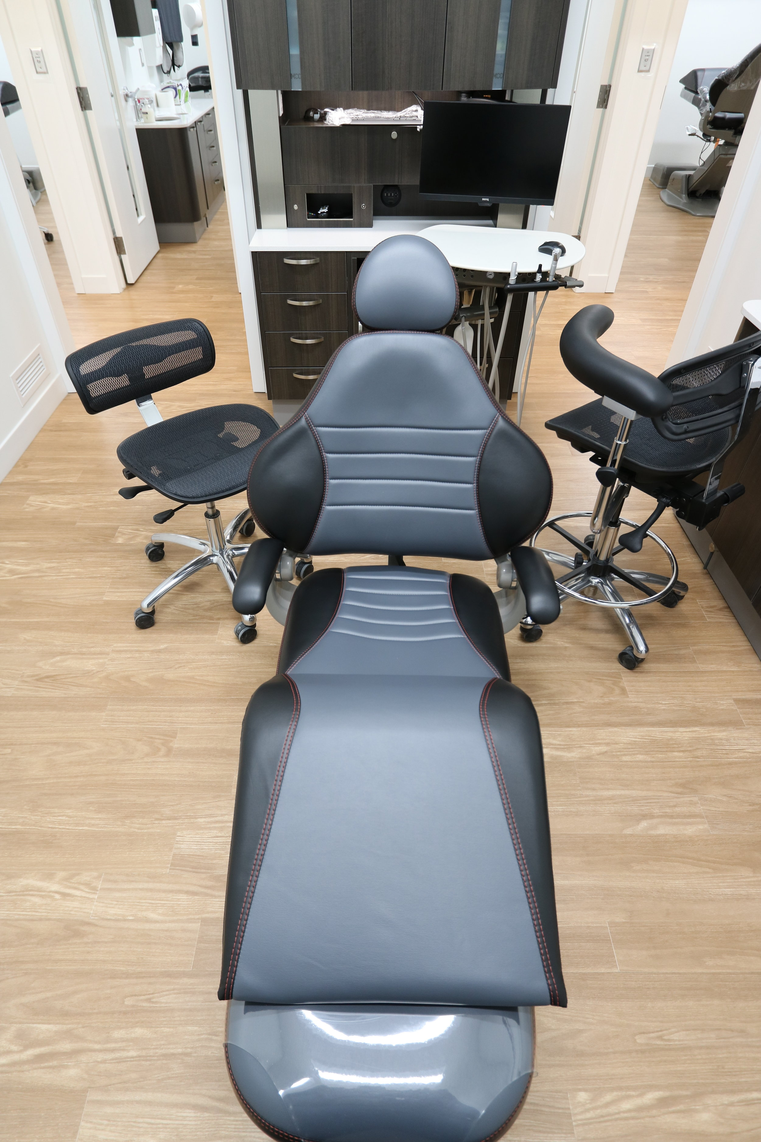 Massaging Chairs - Let the chair massage your stress away while getting treatment at Yorkton Dental.