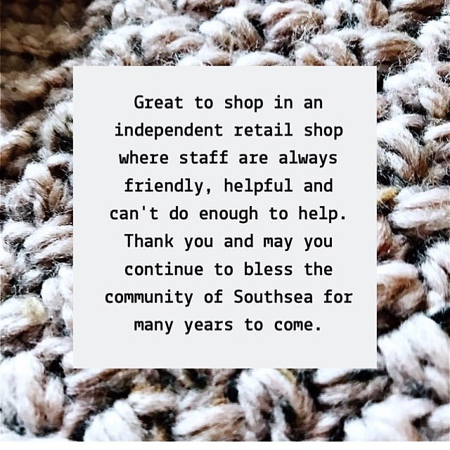 Have you told you favourite indie shop how much you love them lately? Have you told your friends and family? Have you left them a review online? Little things like this can lift up a small business and is fabulously free marketing, so you can support them without spending a penny! We appreciate every single moment our customers take to support us. We've lost 3 local yarn shops since we began this campaign in August, the high street is tough and we want to continue to be here for you. . . . This photo is from the lovely @seeded_buttons