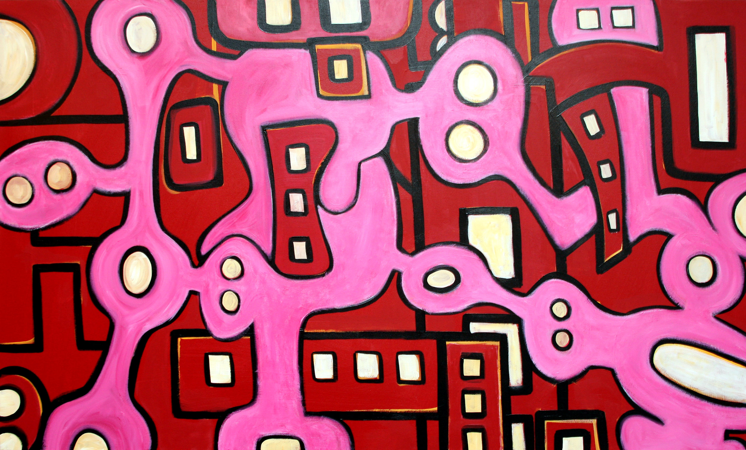 Inertia in Motion in Red and Pink, 2003