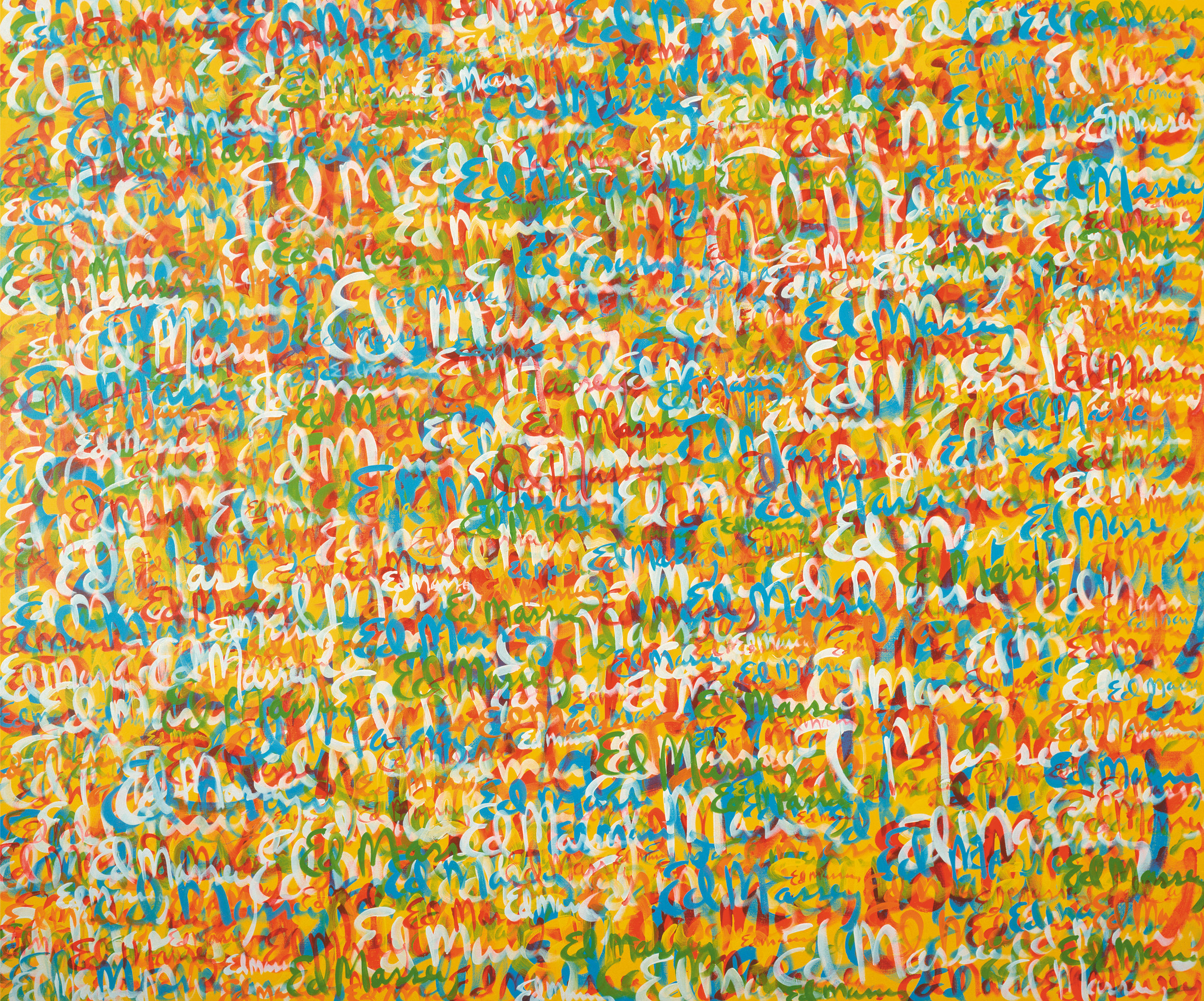 Signature Painting Colorfield, 2001