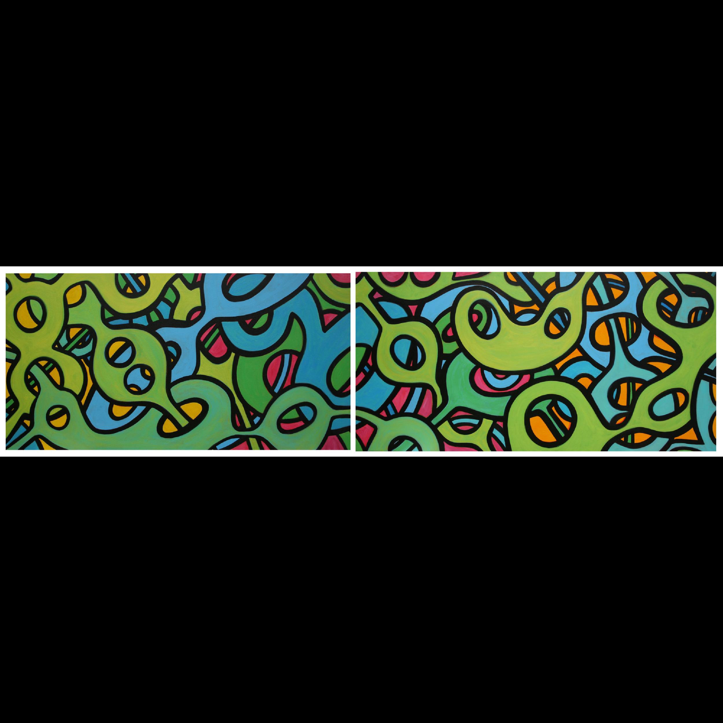 Inertia in Motion, in Gold, Fushia and Tangerine, 2013
