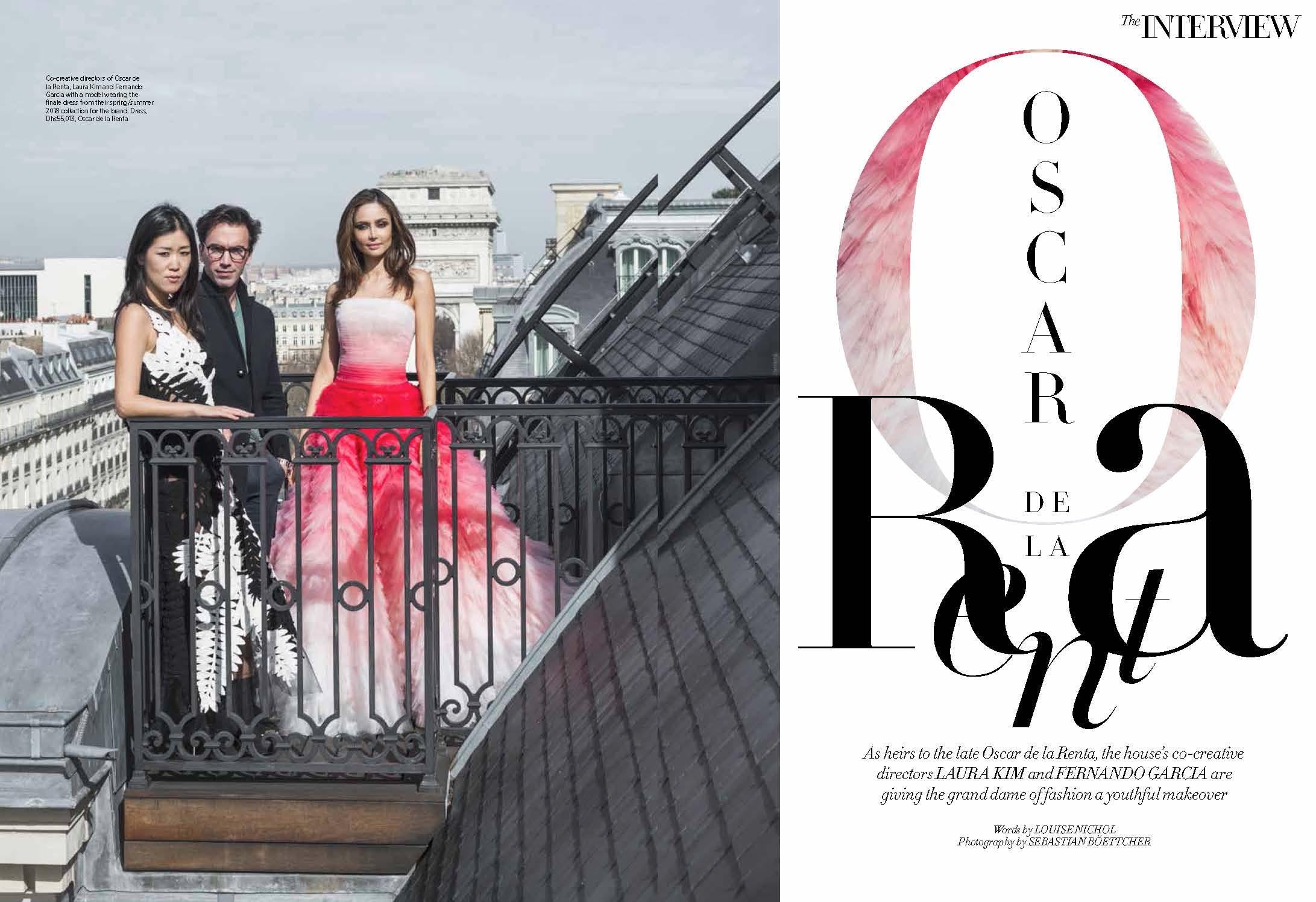 Oscar de la Renta's Laura Kim and Fernando Garcia, April 2018