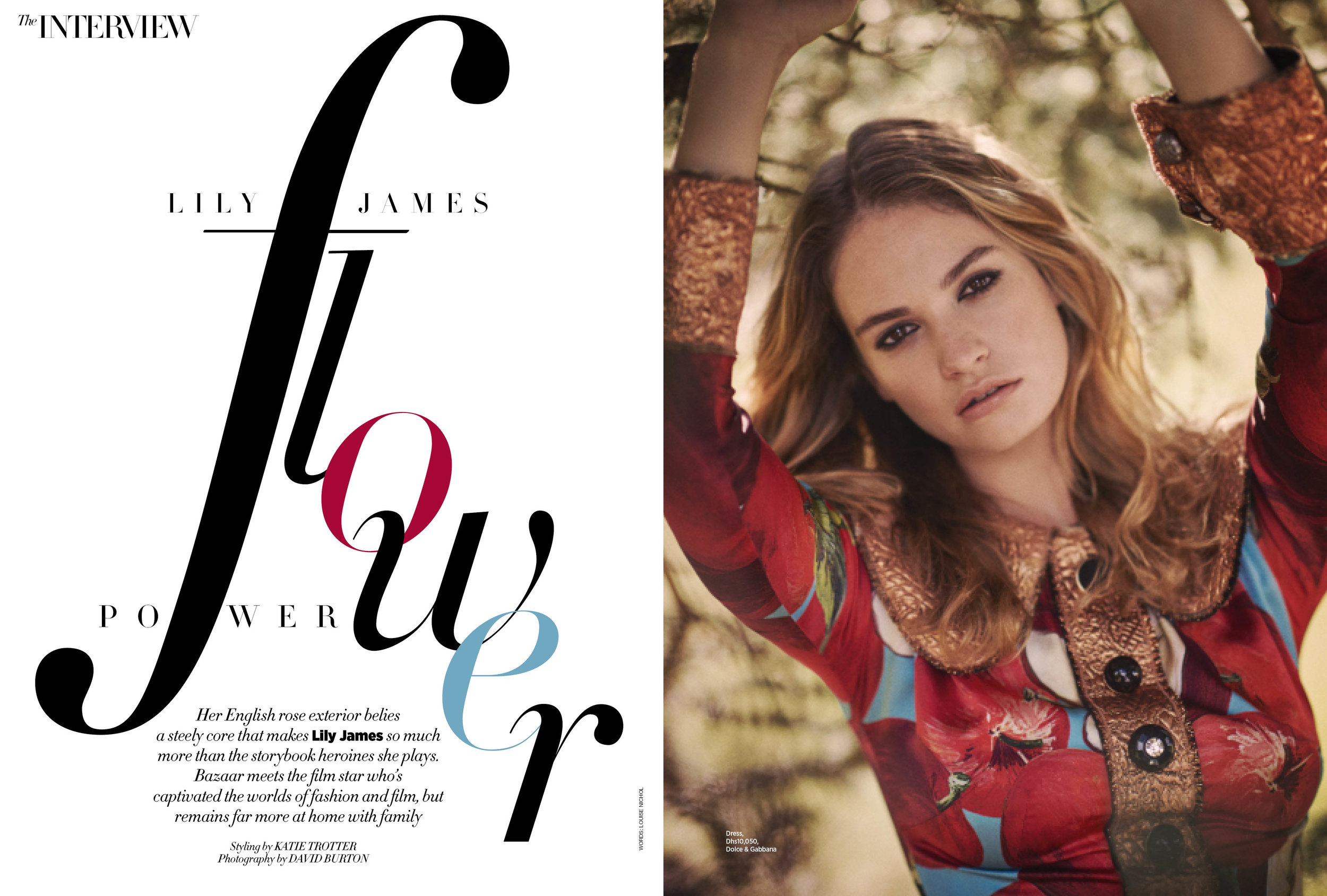 Lily James, December 2016