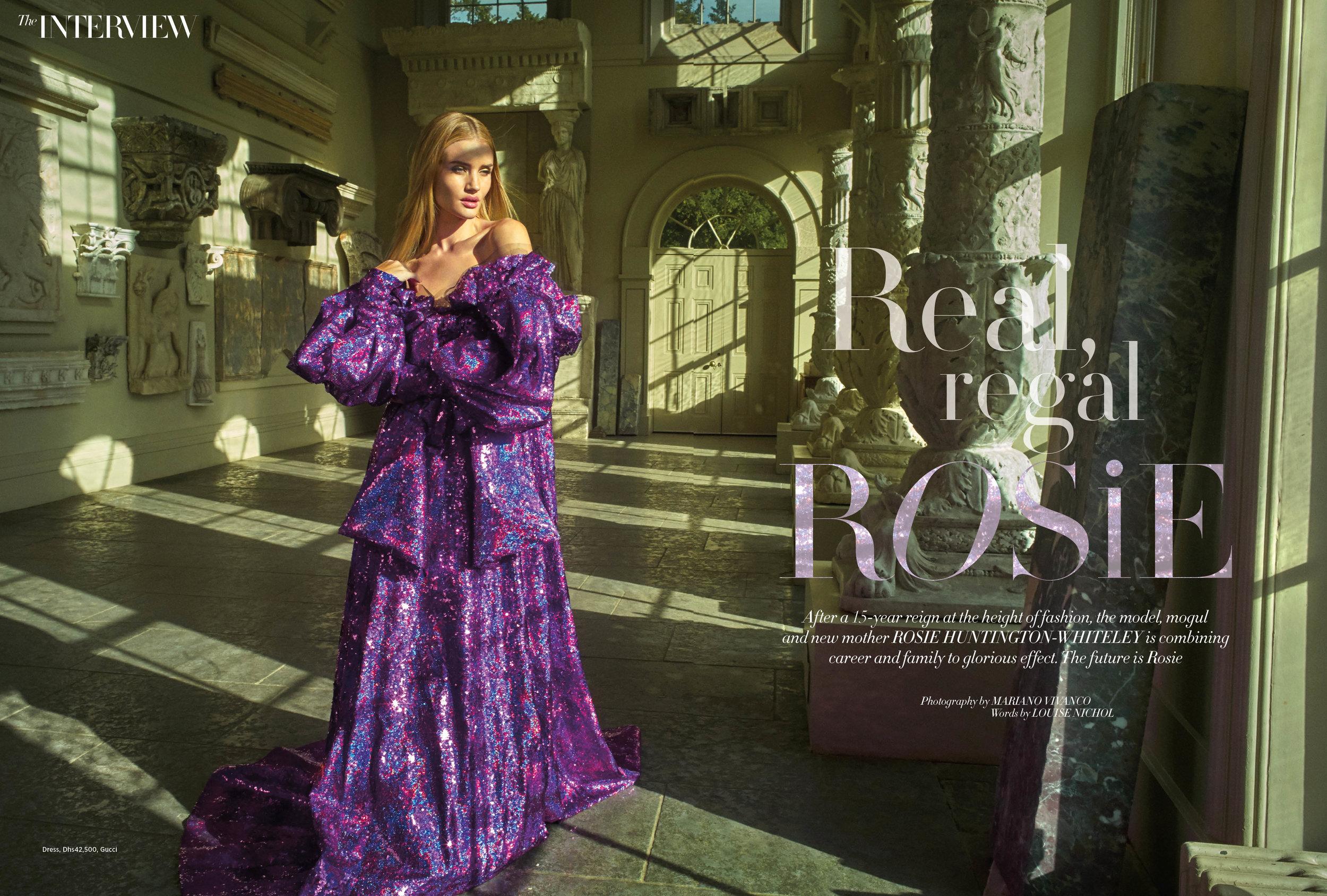 Rosie Huntington-Whiteley, April 2018