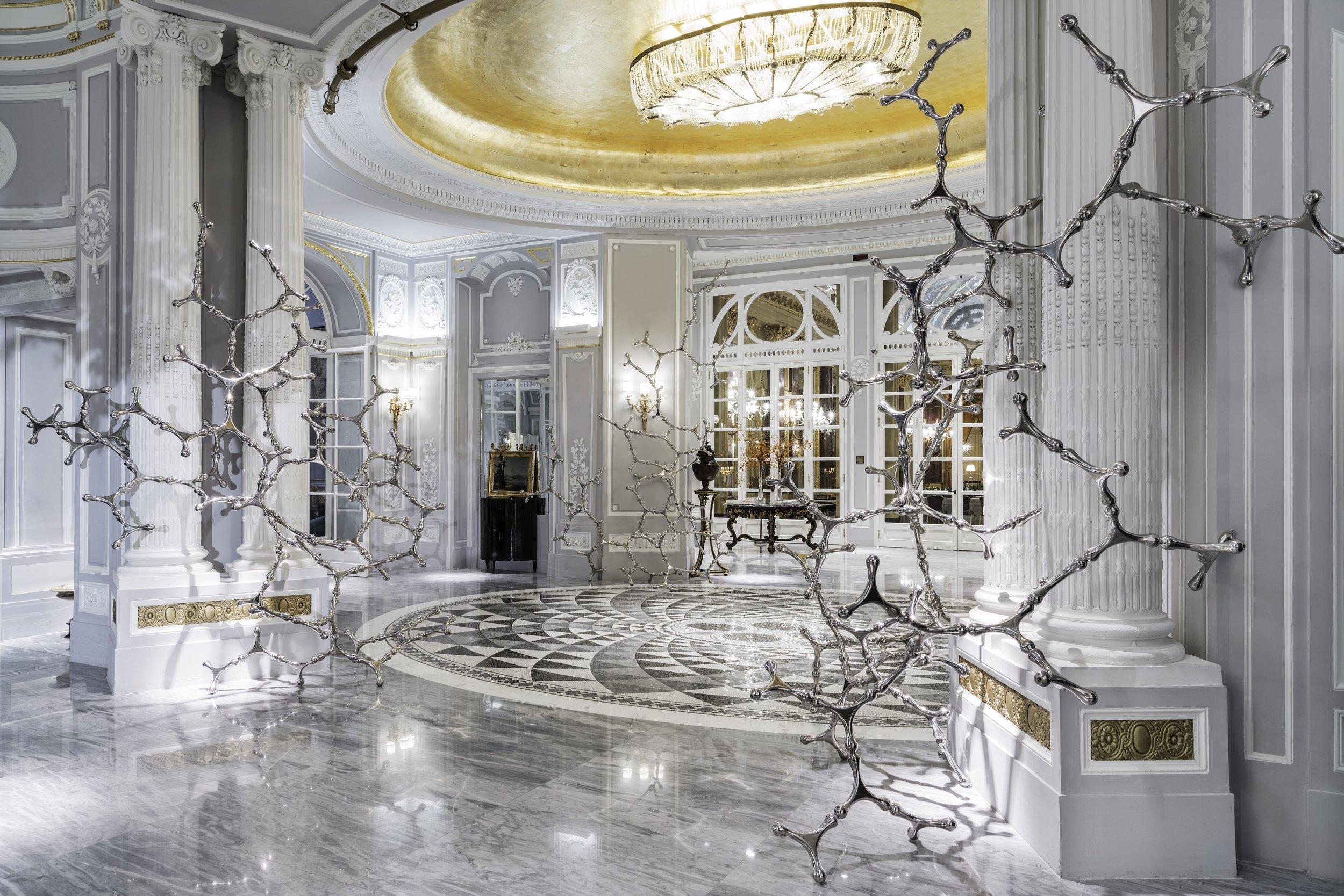 The light-filled lobby of St Regis Rome