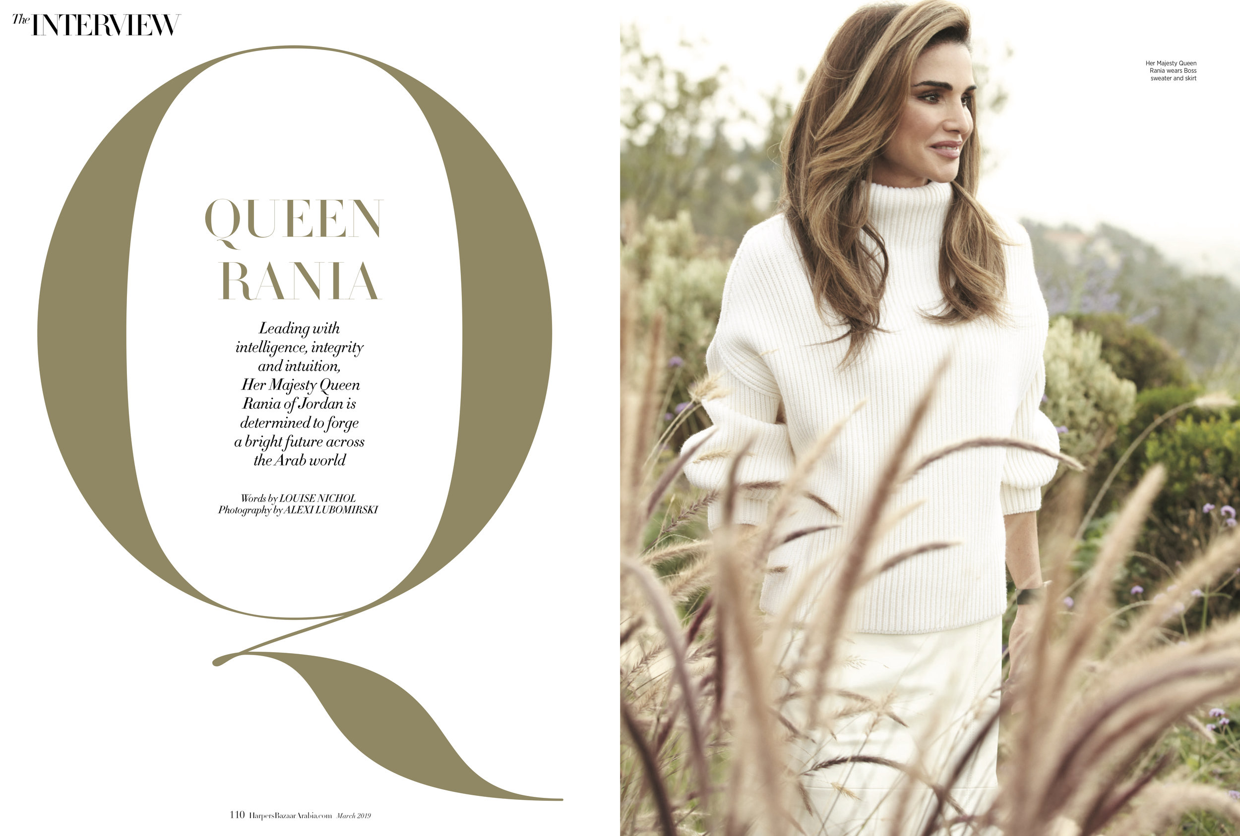 Queen Rania of Jordan, March 2019