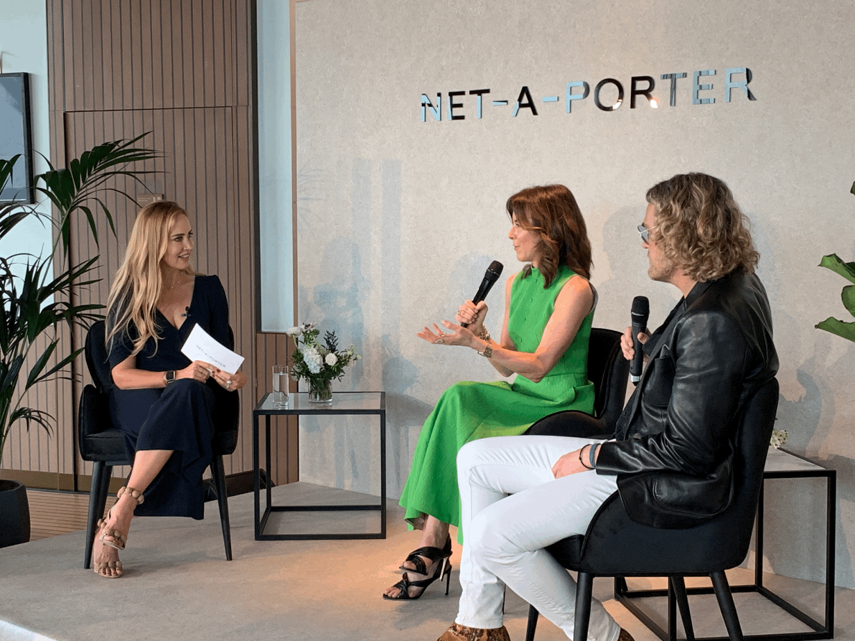 Alison Loehnis and Peter Dundas panel, Net-a-Porter, Bvlgari Hotel, April 2019