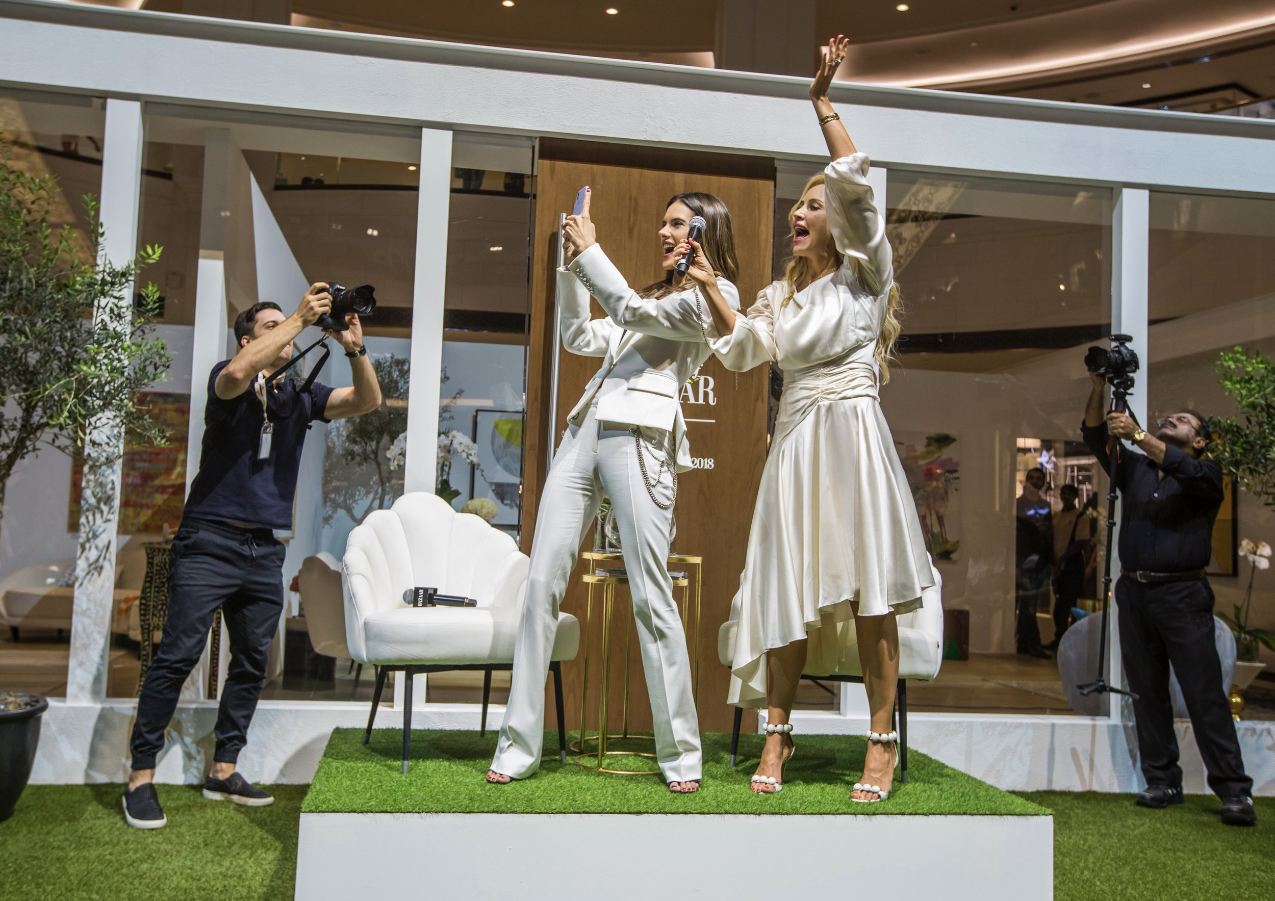 Q&A with Alessandra Ambrosio, Mall of the Emirates, October 2018