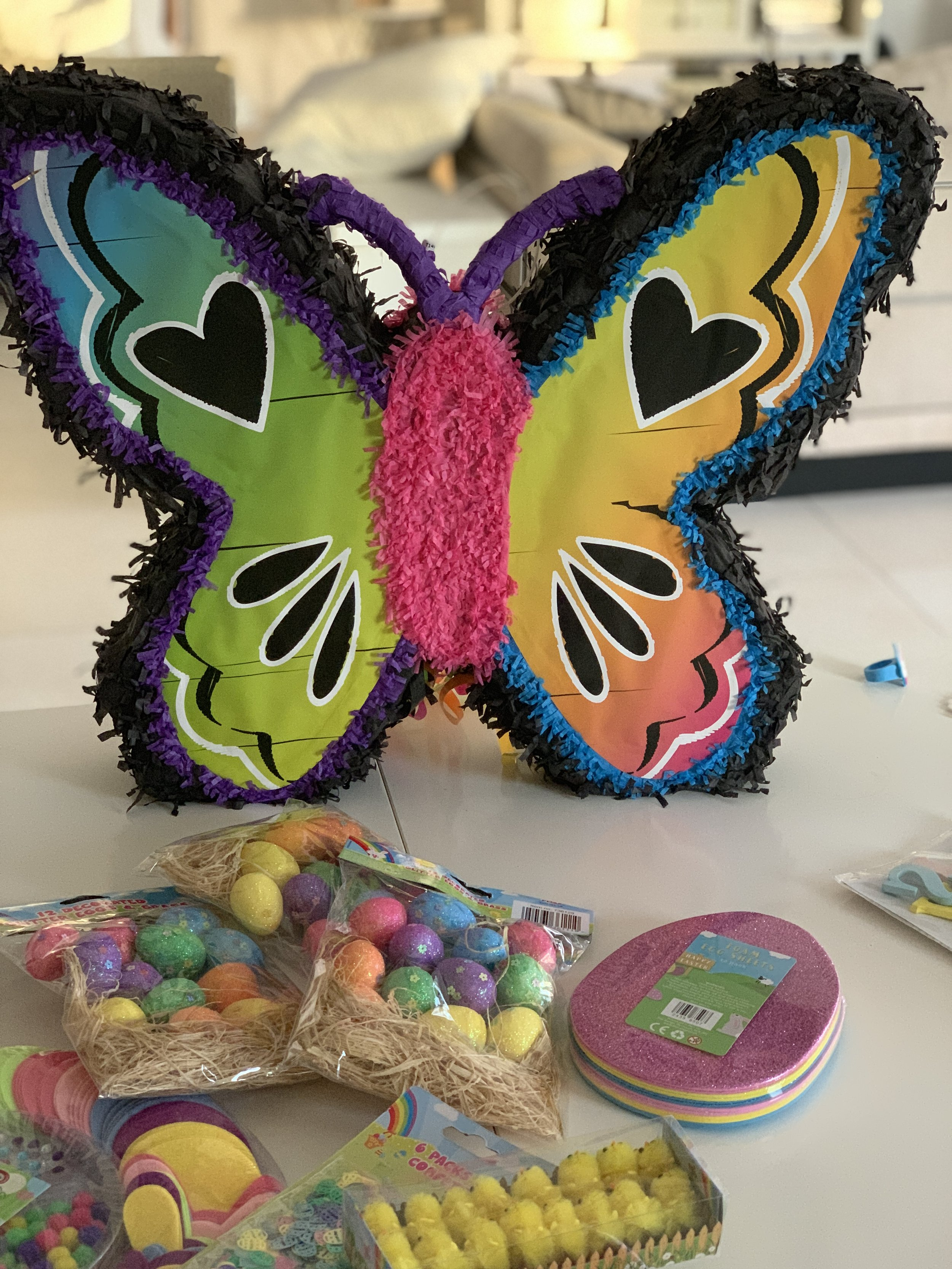 The most spring-like piñata (from Creative Minds) I could find