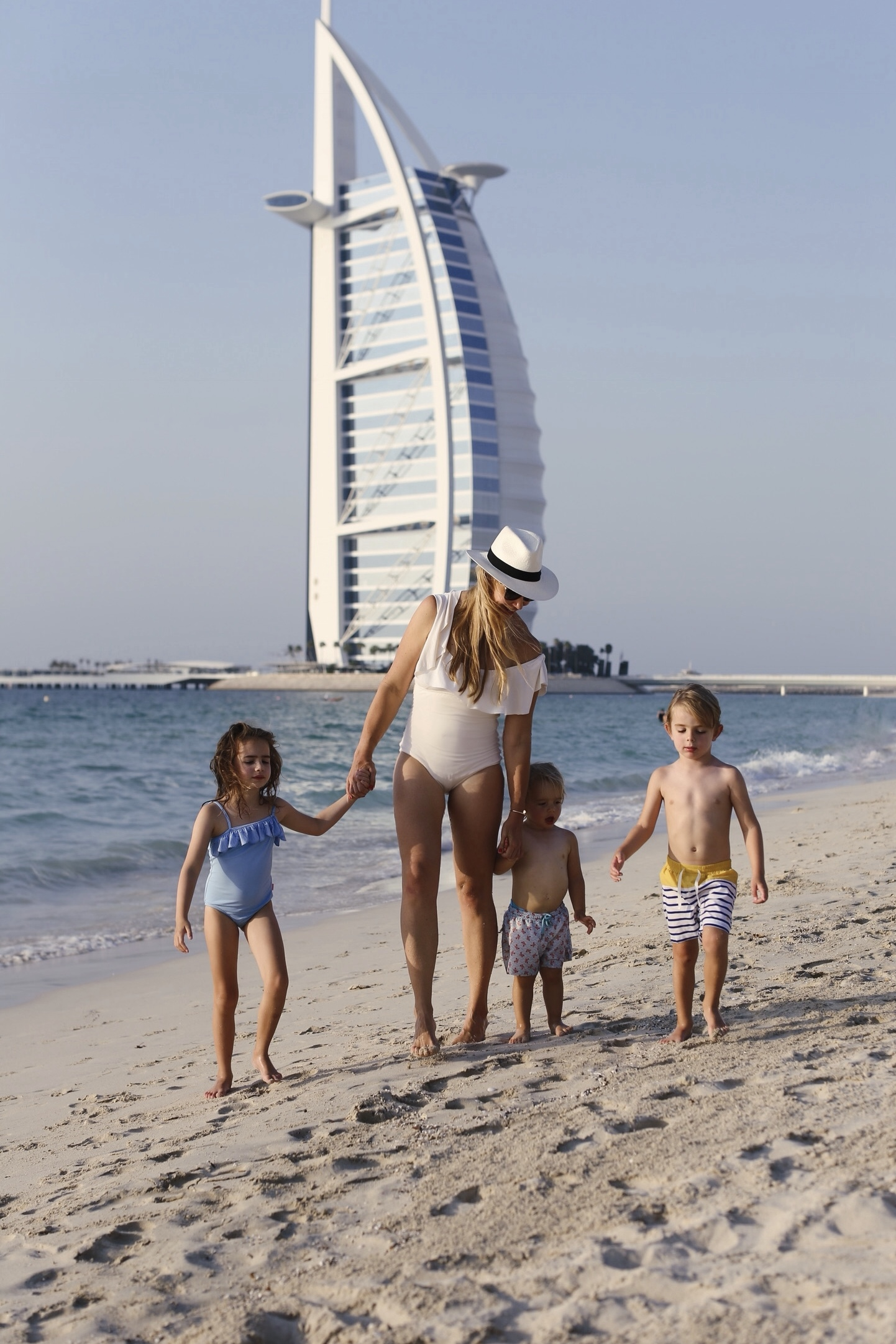 Me and the kids by Dubai's ever-photogenic Burj Al Arab