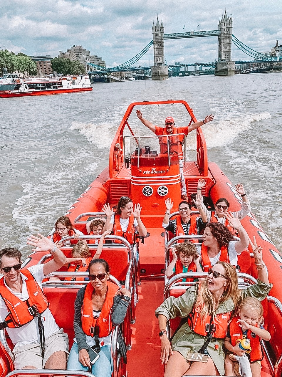 Doing London the Bond way on the child-friendly Thames Rocket