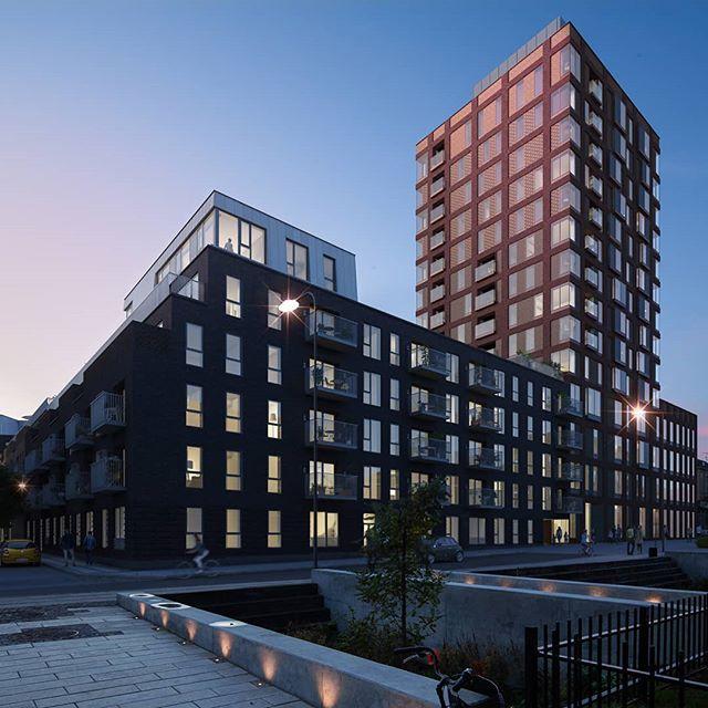 Fristrup Hus & Tuxen Tower @Carlsbergbyen  Architecture: @cfmoller_architects @mvrdv  #københavn #3d #Architectural #Visualization. #Denmark #Rendering #archviz #3dsmax #vray #vrayrender #cgi #itoo #adobe