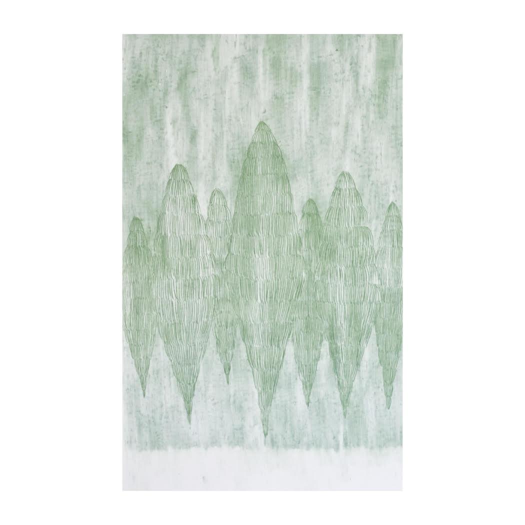 Zapfen # 2 / Wachspastell auf Papier / 380 x 235 mm / 2019