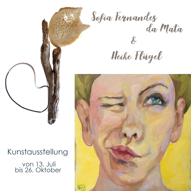 Einladung Kunstausstellung: Sofia Fernandes da Mata & Heike Flügel
