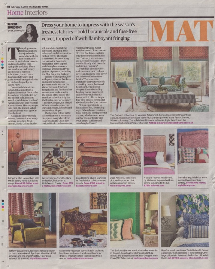 Sunday Times Home, 03.02.19, pg24 Thomas headboard (LS) and Expert comment from Emma D.jpg