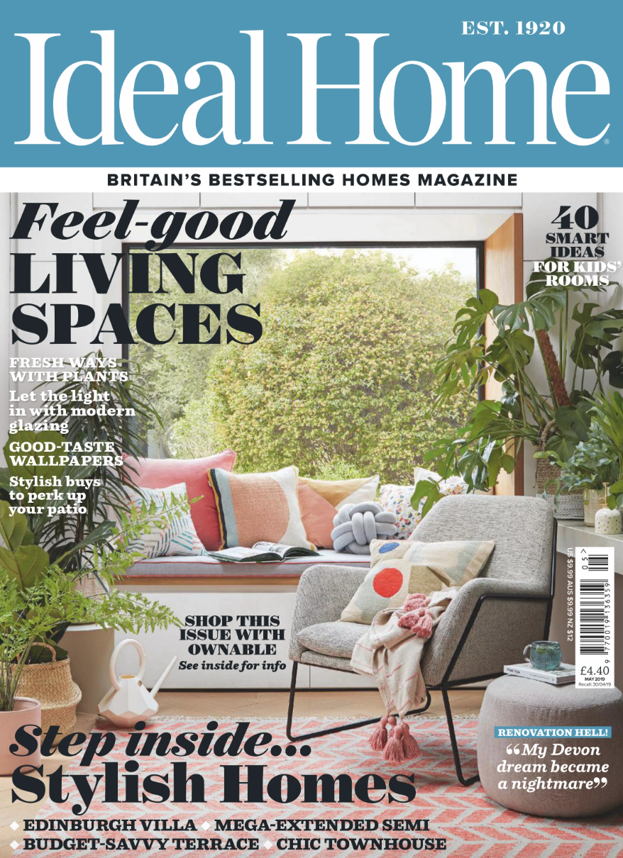 The Isabella Headboard featured in Ideal Home Magazine - May 2019