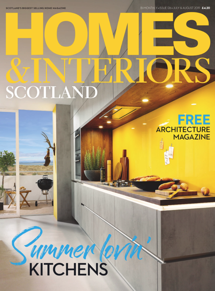 The  Kelling Chair  featured in Homes and Interiors Scotland - July/August 2019