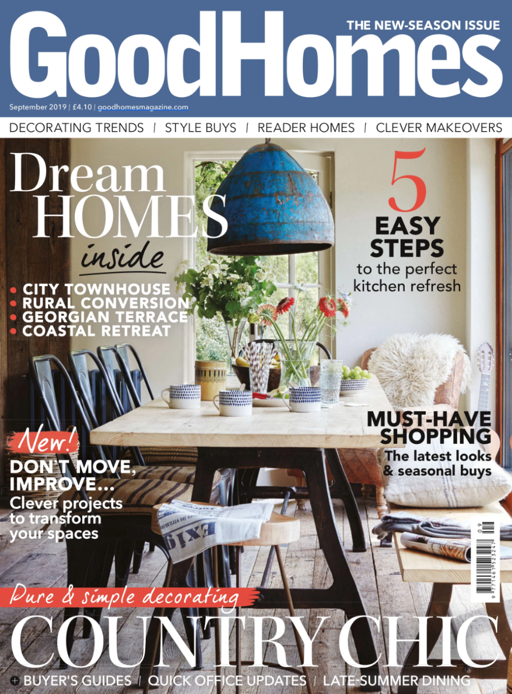 Various KDLoves products featured in Good Homes Magazine - September 2019