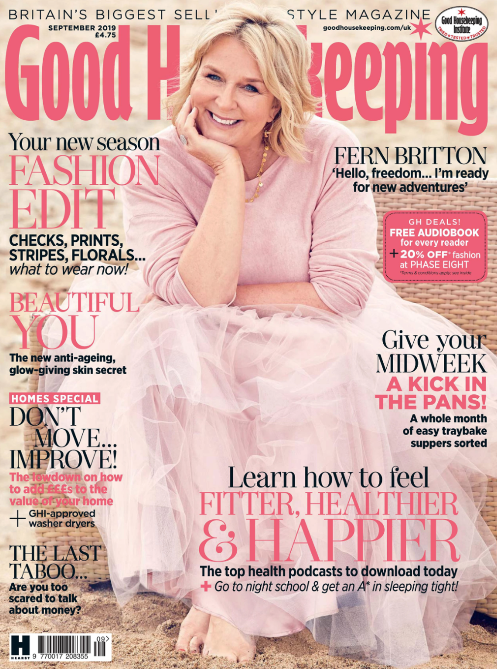 The Sarah Lamp and Sophia Shade featured in Good Housekeeping Magazine - September 2019