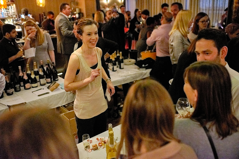 The Gang's own Ines Salpico very happy to be pouring some of the ultimate stars of the event: Champagne Ayala, Bollinger Rose and Klein Constantia