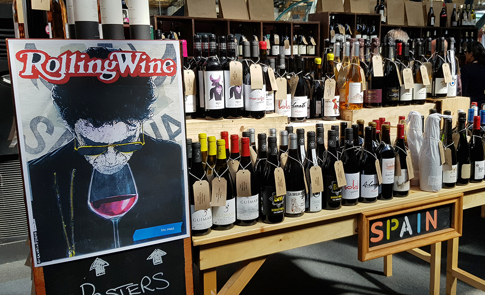 The shop at Real Wine Fair - selling wine and coolness factor