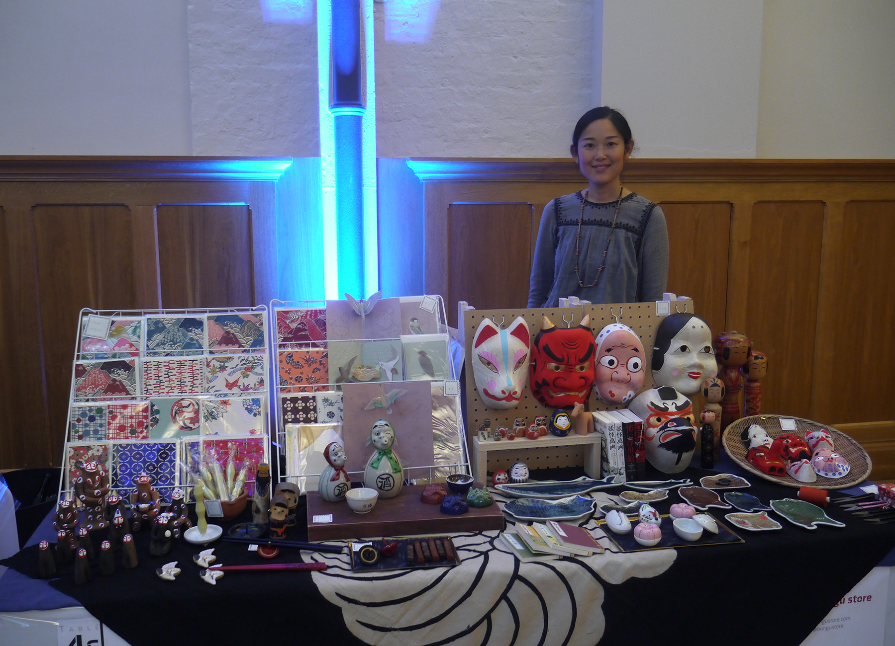 Ouka Ueno, Japanese artist and craftswoman, who brought an amazing selection of creations sourced directly from Japan through her Bungu Store