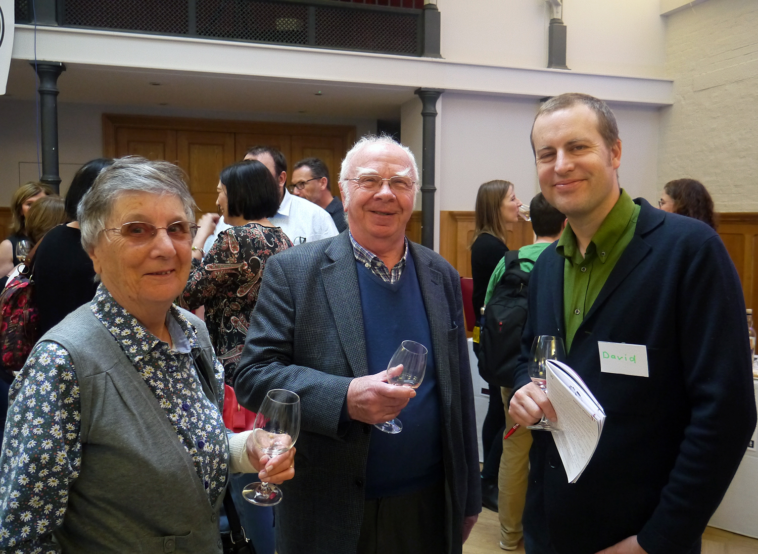 The Wine Gang's David Williams with two of our most faithful guests