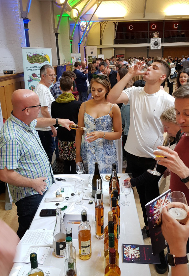 Is Cider Wine?? Alistair Morrell making a case for it at his Cider is Wine table