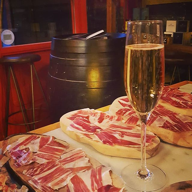 Warming up for our #LeedsFestival tomorrow @ibericarestaurants  A taste of what they'll be serving our lucky guests ☺