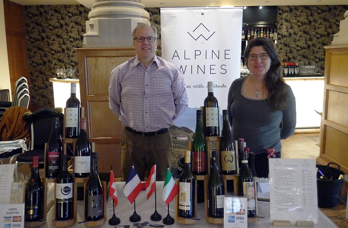 Alpine Wines' selection was in everyone's mouth (literally) for their specificity and quality