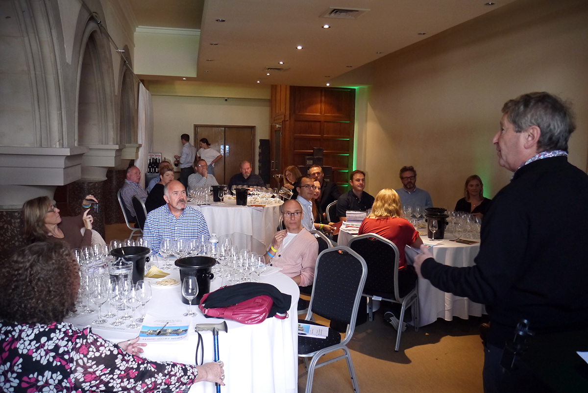The Wine Gang's Anthony Rose introducing Rebecca Gibb MW and the Vins du Loire Masterclass