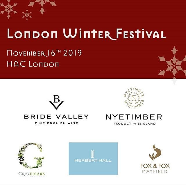 Make your Friday an '#EnglishWine Day'! And join us at our #London #Winter #Festival on November 16th to taste some of the best examples at the #English #Wine Zone! #wine #winetasting #foodandwine #londonevents