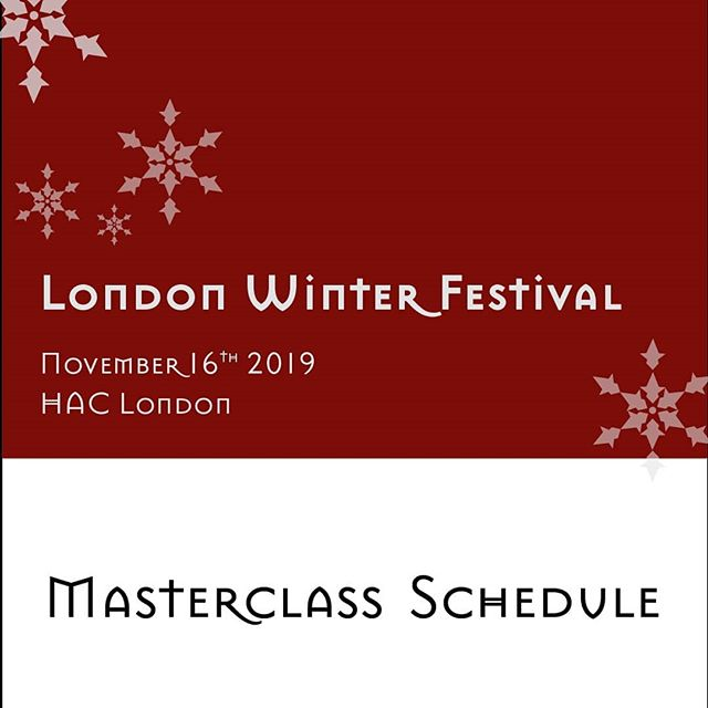 The full #masterclass schedule for our #Winter2019 #Festival is now available and it's a truly outstanding one. We wish we could sit all the sessions ourselves! Secure your seats fast to avoid disappointment. #london #londonevents #foodandwine #greatwine #november
