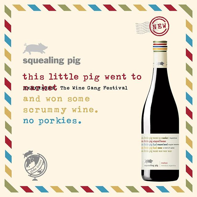 10 bottles up for grabs at our #Winter #Festival on #November 16th.  @squealingpigwines will be raffling 5 of their delicious food-friendly pours at each of the event's sessions! Oink oink! #wine #winefestival #prize #londonfestival