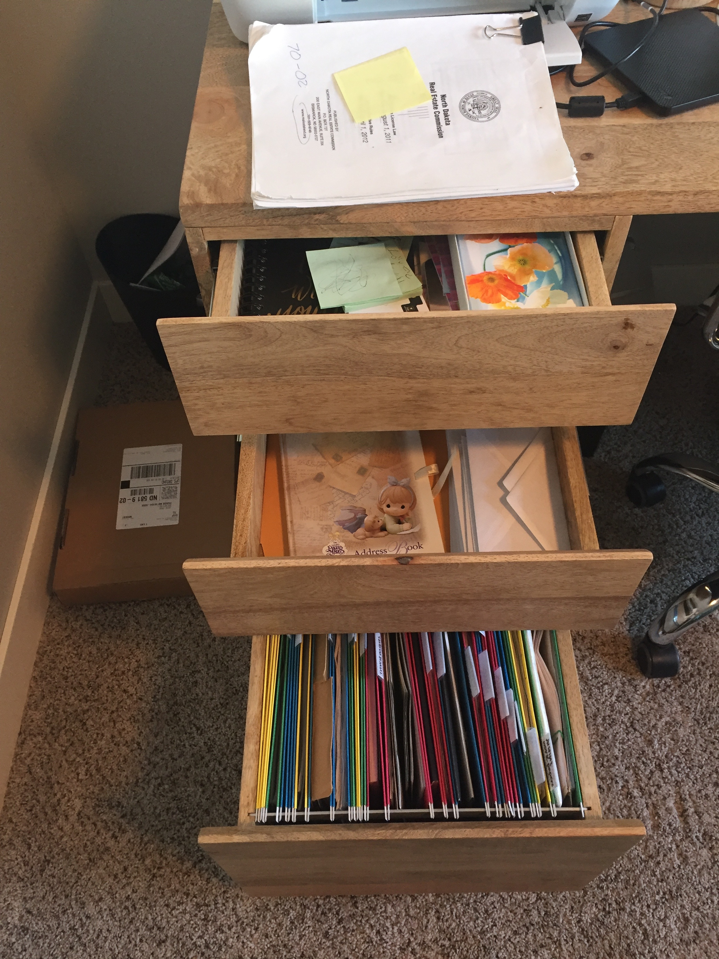 BEFORE - This client felt overwhelmed by drawers bursting at the seams with papers.