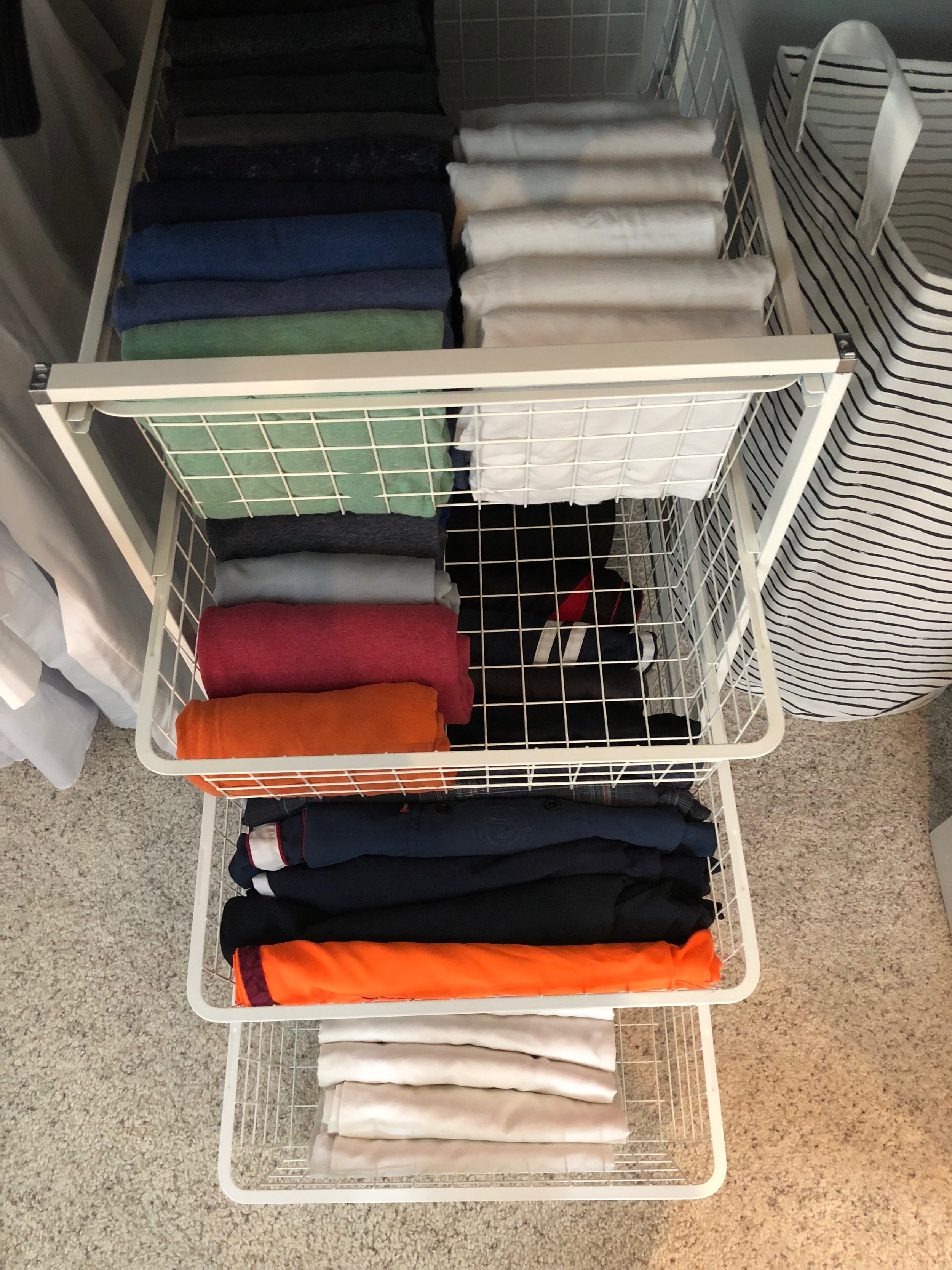 AFTER - Folding clothes can save lots of space.