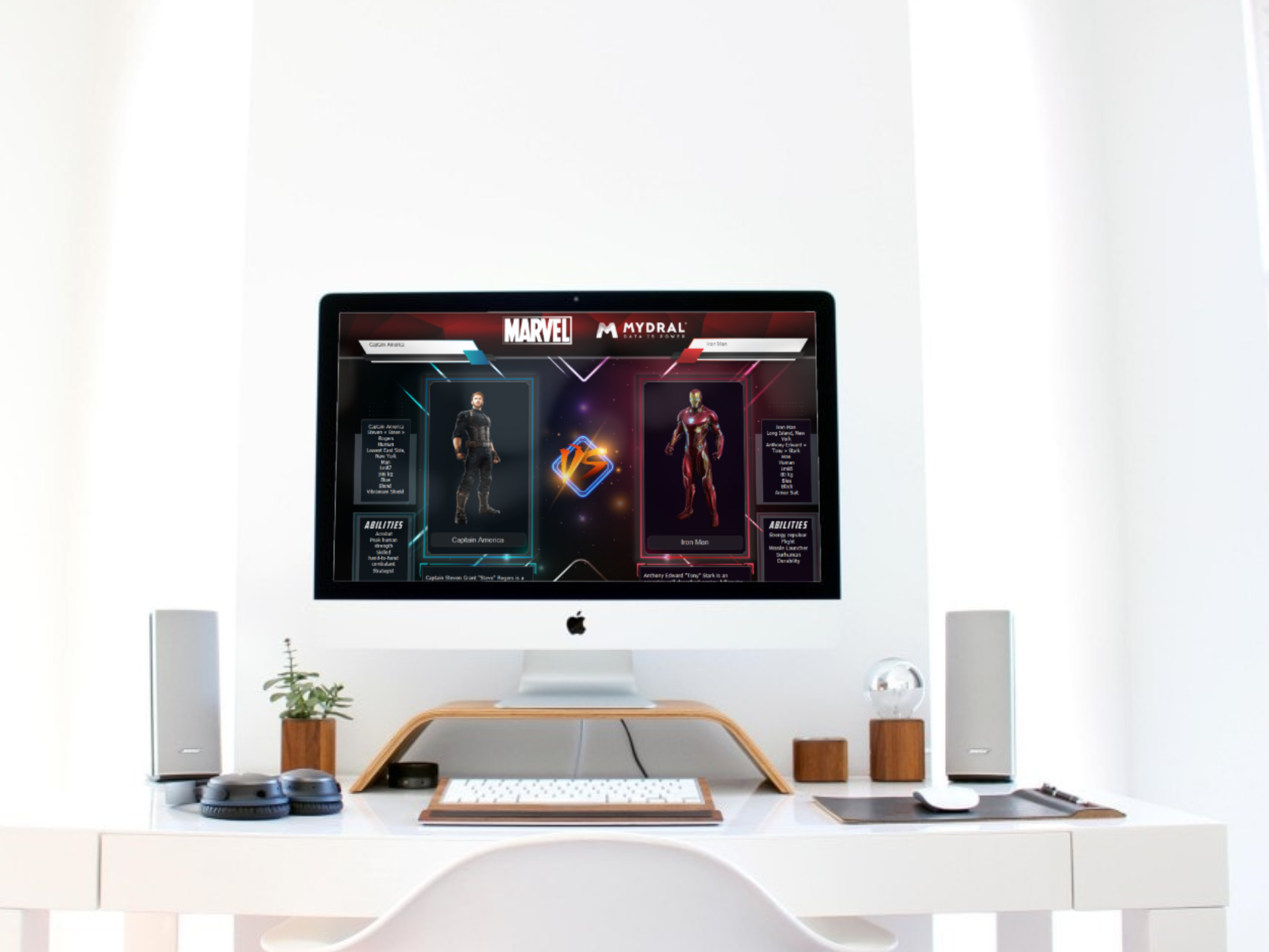Who's the mightiest ? - At the arrival of the newest Avengers movie, our Team created a Data Visualization on the MARVEL characters' universe. By choosing two different hero, you can compare their strengths and weaknesses.This Application Visualization is an example of one of many things Tableau can offer.To discover this dashboard, check out the final interactive result on Tableau Public.