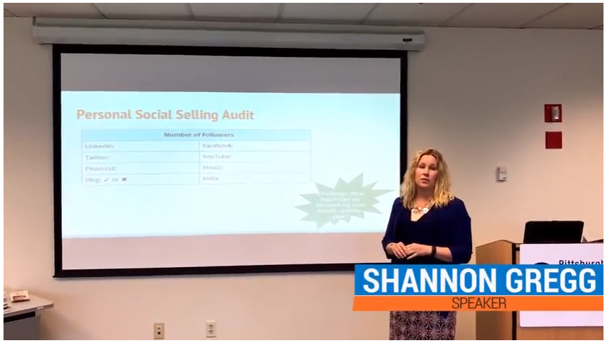 "Shannon Gregg  has created and optimized Sales Ops teams for multiple VC & PE-backed organizations. She specializes in sales productivity and process integration. Here, we see her facilitating Pittsburgh Tech Council's ""Sell Like a Lady Sales Lab/Workshop."