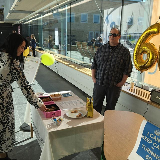 Vi are serving free 60th birthday fika during the lunch in Lindell Hall. See you there!
