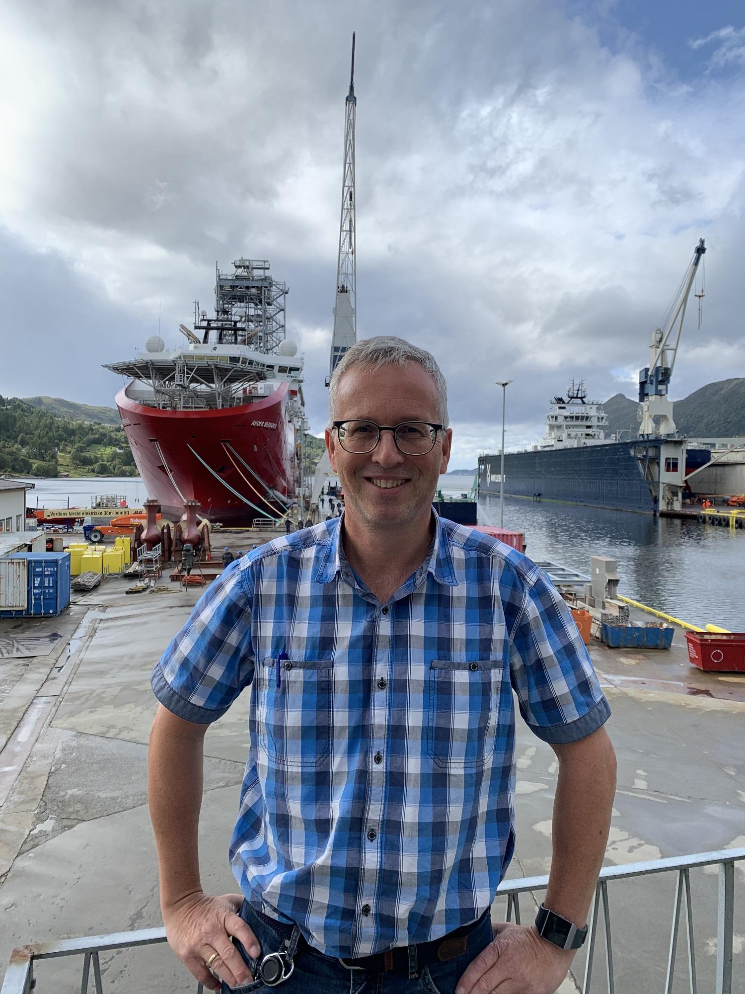 Frode Holm gled seg å ta fatt i ny stilling som teknisk sjef ved Myklebust Verft
