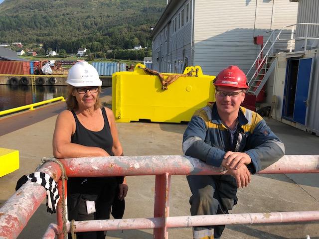Sanitetsleiar Janne Larsen Hauge og brannvernleiar Ramunas Karanauskas var nøgde med innsatsen under øvinga.