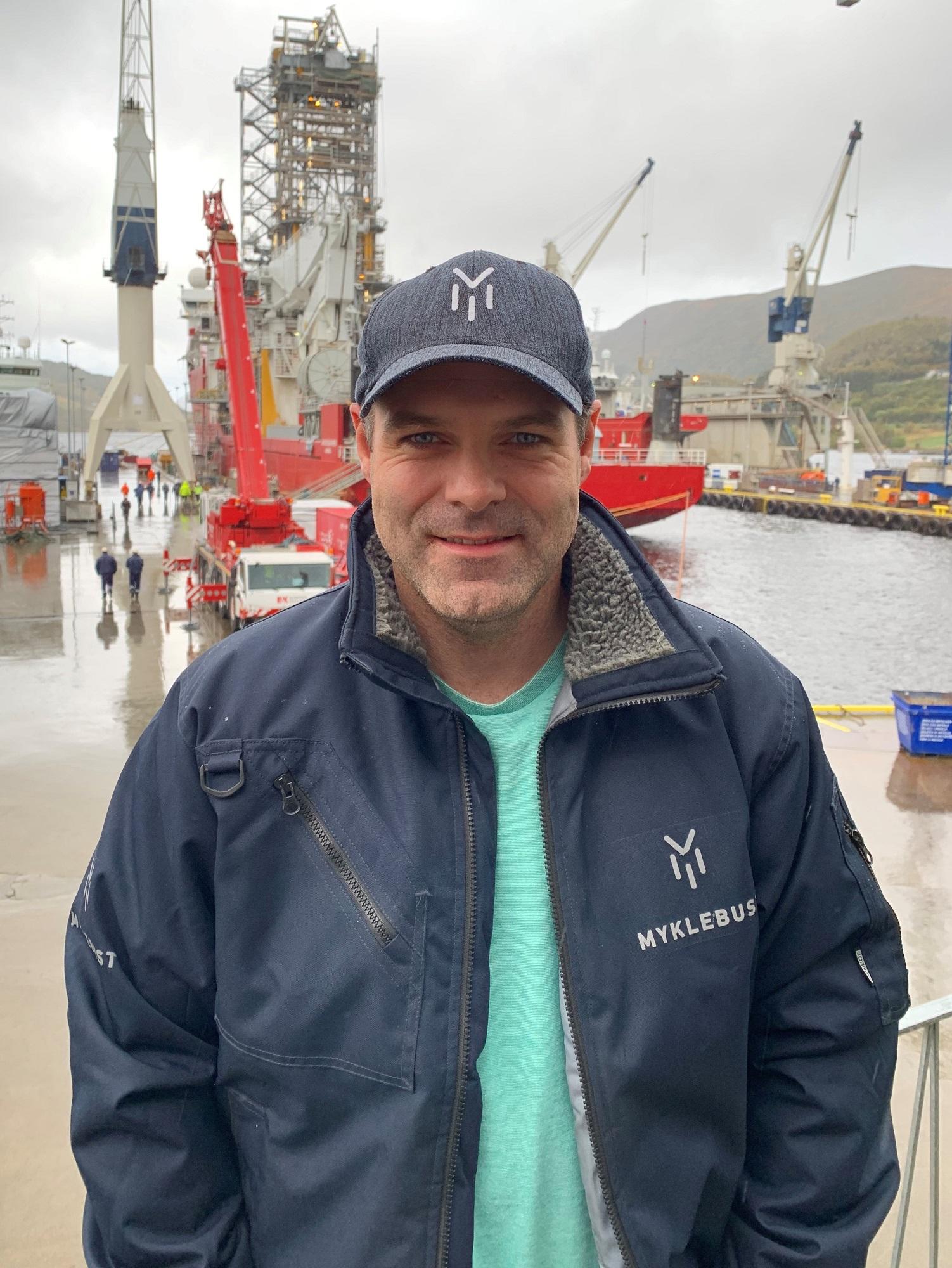 Til dagleg er Kevin prosjektleiar for mange av ettermarknadsprosjekta ved Myklebust. Flesteparten av prosjekta er retta mot oljeindustrien.